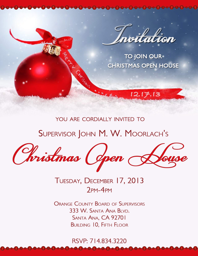 Christmas Open House Invitations | alesi.info